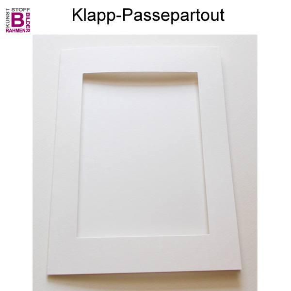 klapppassepartout klapp passepartouts im 5er pack naturwei. Black Bedroom Furniture Sets. Home Design Ideas